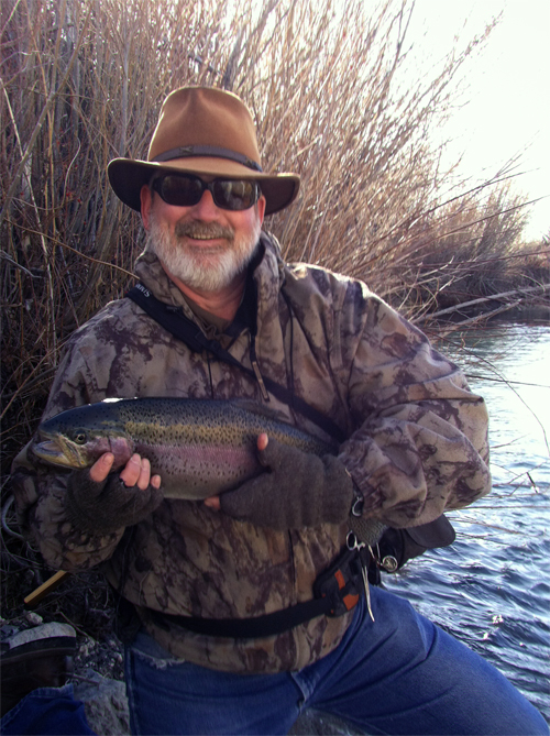 Joe with nice tiger trout at Ruby Lake NWR